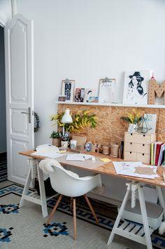Macarena Gea studio in Valencia (Spain) / Estudio / Oficina / Office / Workplace Home Office Design, Home Office Decor, House Design, Home Decor, Design Design, Room Decor Bedroom, Diy Room Decor, Small Home Offices, Studio Room