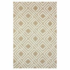 Wool rug with a geometric motif.  Product: RugConstruction Material: WoolColor: Tan and ivory Note: Please be aware that actual colors may vary from those shown on your screen. Accent rugs may also not show the entire pattern that the corresponding area rugs have.Cleaning and Care: Professional cleaning recommended