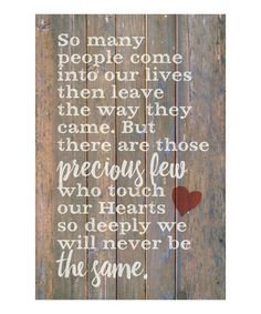 Take a look at this 'So Many People' Wood Wall Art today!