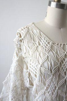 25% SPRING SALE macrame dress / 70s dress por 1919vintage en Etsy