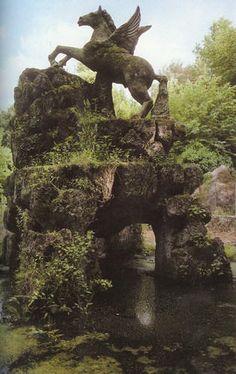 The Gardens of Bomarzo, circa XVI century, province of Viterbo, Italy, Lazio