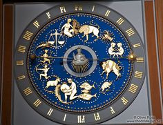 Astronomical clock in the Marienkirche in Lübeck (St. Mary`s Church)