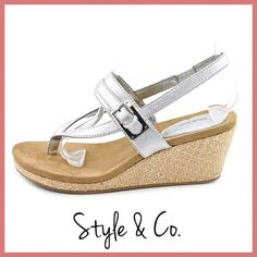 Style&Co. Wedge Sandals Two pairs of adorable Style&Co. wedges. •One size 8 •One size 9 Both brand new with box. **Price is per pair** Style & Co Shoes Wedges