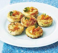 Salmon & lemon mini fish cakes. These fish cakes provide a tasty gluten-free alternative to your classic bite.
