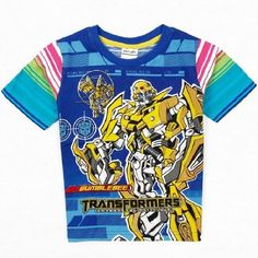 2016 transformer boys t shirt 100% cotton children t shirts clothing fashion…