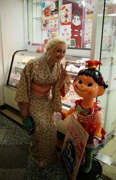 peko-chan and kimono, nakano broadway, tokyo