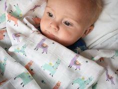 Modern baby, kids and humorous grown ups accessories. by Zezling Muslin Blankets, Small Blankets, Waterproof Bibs, Beautiful Baby Shower, Burp Cloths, Baby Gifts, Organic Cotton, Llamas, Kids