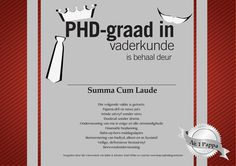 PHD-graad in vaderkunde sertifikaat | Christmas, Easter, Mother's Day, Father's Day... free printables! | YourParenting