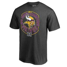 Men's Minnesota Vikings NFL Pro Line by Fanatics Branded 2017 NFC North Division Champions T-Shirt