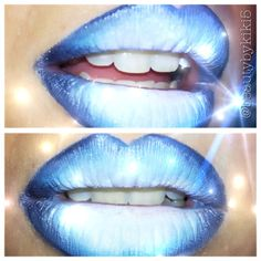 Ombre Blue Lips