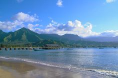 Hanalei Bay is the largest bay on the north shore of Kauaʻi island in Hawaii. The town of Hanalei is at the midpoint of the bay.   Starting at $4.95