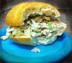 Use roast chicken leftovers for this chicken salad sandwitch.