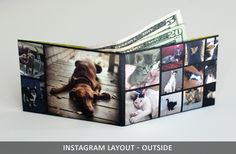 ThinFolio wallet made from Instagram pictures