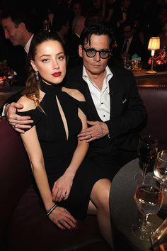 Amber Heard and Johnny Depp had a date night in NYC.