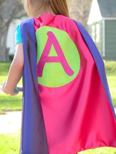 girl personalized 4 piece superhero cape set with personalized cape