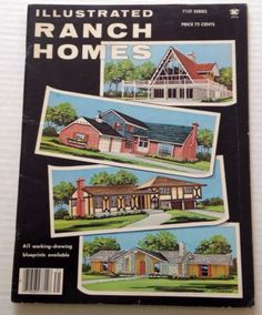 Illustrated Ranch Homes Book 1978 Home Plans Split Level Two Story Houses Too