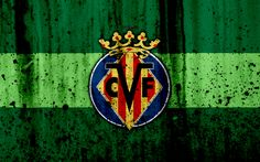 Download wallpapers Villarreal, 4k, grunge, La Liga, stone texture, soccer, football club, LaLiga, Villarreal FC