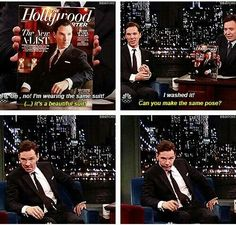 Benedict Cumberbatch, ladies and gentlemen. I just laughed out loud! His face in the last picture!