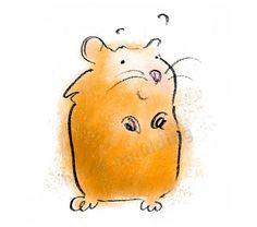 Hamster Print by ManyHappyAnimals on Etsy, £18.00