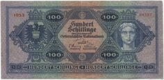 100 Schillinge 1925 (Frauenportrait), Österreich Erste Republik