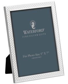 """Waterford Padova Silver-Plated 5"""" x 7"""" Frame"""
