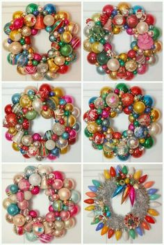 I have always had a seceret interest in wreaths made from Christmas balls, this just might be the year I make one. Maybe for the girls!