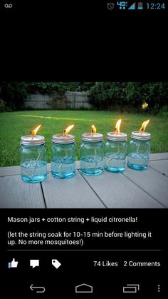 Diy citronella jars