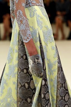 """""""Both Python & Patchwork are developing as trend statements for the season."""" Erdem Spring 2013 RTW"""