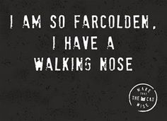 I am so farcolden, I have a walking nose!  #Hallmark #HallmarkNL #makethathecatwise #wenskaart