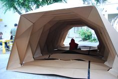 Cardborigami | Instant Space | Tina Hovsepian | Archinect #temporarystructure #temporary #structure #architecture