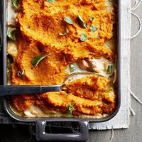 BHG's Newest Recipes:Sweet Potato-Topped Turkey Pot Pie Recipe