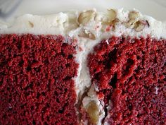 Red Velvet Cake...made this for thanksgiving 2012 and it was a huge hit!!! A definite winner