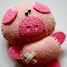 Petunia the Pig - Stuffed Felt Animal
