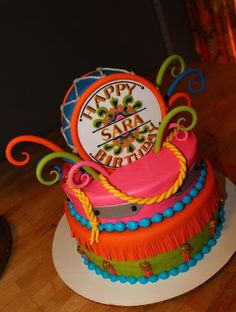 Beatles party idea: Sgt. Pepper birthday cake!
