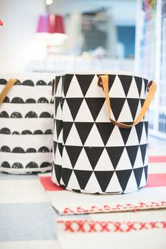 Organic Cotton Graphic Basket by #HannaHome