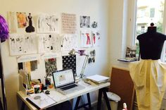 From PANTONE, a peek into some key Fashion Designer's workspaces.
