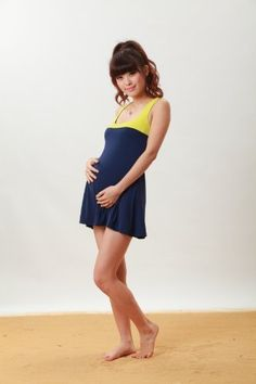 Elegant Bicolor Maternity Swimsuite m Sweet Mommy. $181.00