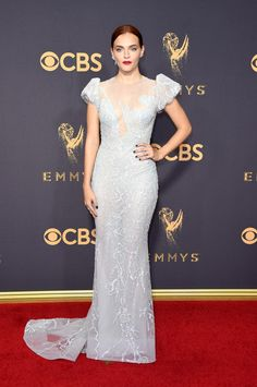 The Emmy-nominated actress's hair channeled the royal polish of her character, Queen Elizabeth II, for the red carpet.