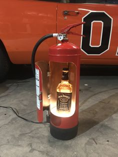 21 Pics of Creative Fire Extinguishers That Are Mind-blowing Decorative Objects - FunRare Jerry Can Mini Bar, Pompe A Essence, Oil Drum, Halogen Lamp, Drink Holder, Fire Extinguisher, Decorative Objects, Metal Art, Metal Working