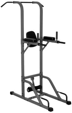 XMark Fitness Power Tower with Pull-up Station XM-4432. The XM-4432 includes a vertical knee raise, dip station, push-up station, and pull-up station featuring a narrow and wide grip. Extra thick 2.5-inch high-density cushion and double stitched, tear-resistant Duraguard vinyl. Heavy 14-gauge steel mainframe construction with scratch resistant powder coat finish. Skid resistant rubber feet to protect your floors. 350 lb. user weight capacity.