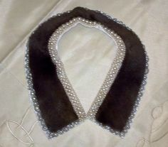 Just one of our many Vintage 1930-50's Pearl Collars. This is a 1950's Brown Mouton fur collar trimmed with faux pearls. See it this weekend @NYCFleaMarkets Hell's Kitchen Flea Market NYC Wildpalm Vintage Jewels spaces 82 & 83. WildpalmVintage.com