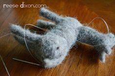 Needle felt donkey tutorial