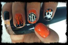 Cool Harley Davidson Nail Design