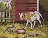 Vasikka ja kissa - Kanavatyö