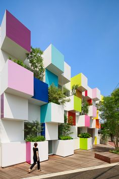 Emmanuelle Moreaux designed branches of the Sugamo Shinkin Bank in Japan.