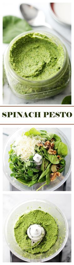 cool Spinach Pesto Recipe | Diethood Check more at http://foodrecipesdaily.info/2015/06/23/spinach-pesto-recipe-diethood/