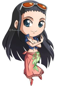 One Piece: Nico Robin Chibi by Kanokawa on deviantART