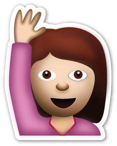 Happy Person Raising One Hand