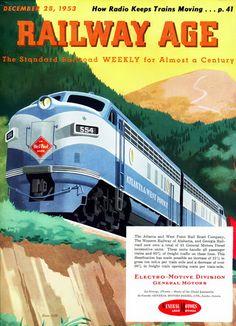 GM Electro LocoMotive Division 1953 Mountains - Mad Men Art: The 1891-1970 Vintage Advertisement Art Collection