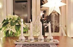 Scandinavian home - adventljusstake Scandinavian Home, Candles, Christmas, Xmas, Weihnachten, Yule, Jul, Natal, Natale